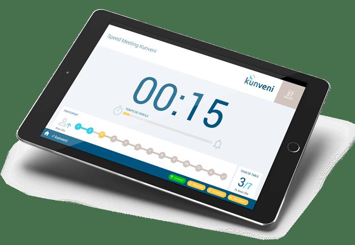 Timer de gestion d'un speed meeting KUNVENI